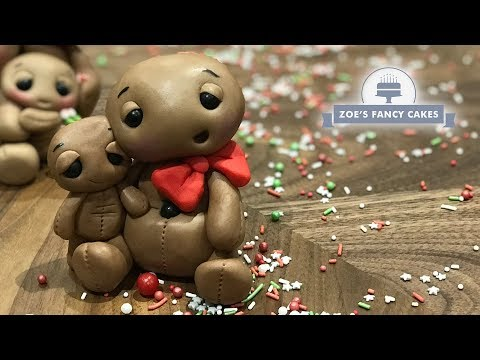 Gingerbread men cake toppers Christmas cake decorating