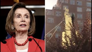 """Pelosi responds to Columbus statue thrown in Baltimore harbor: """"People will do what they do"""""""