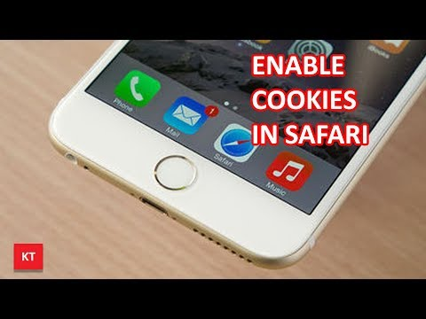 How to enable cookies in safari