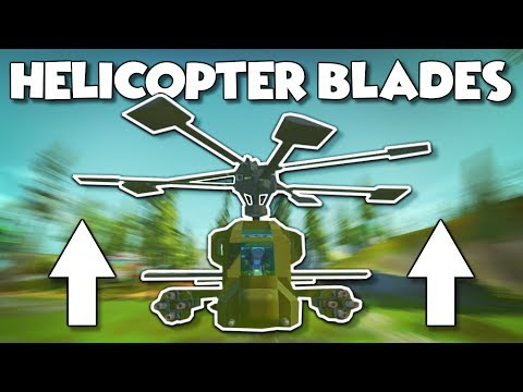 Realistic Helicopter Blades! - Scrap Mechanic Creations! - Episode 132