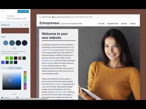 Entrepreneur WordPress Theme: Setting Custom Colors on WordPress.com (Step 11)