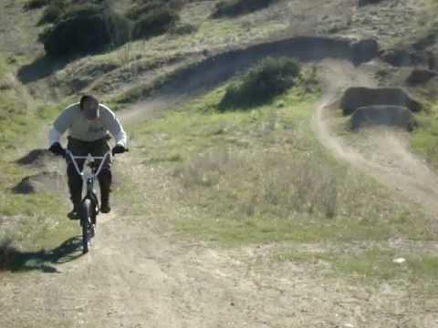 10 FT Dirt Jump Into Berm Old School BMX
