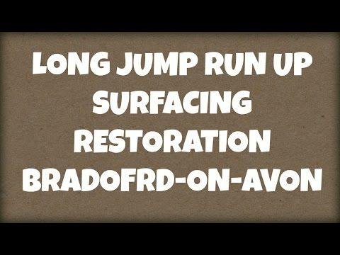 Long Jump Run Up Surfacing Restoration Bradford-On-Avon
