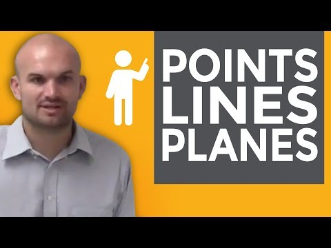 Overview of points lines plans and their location