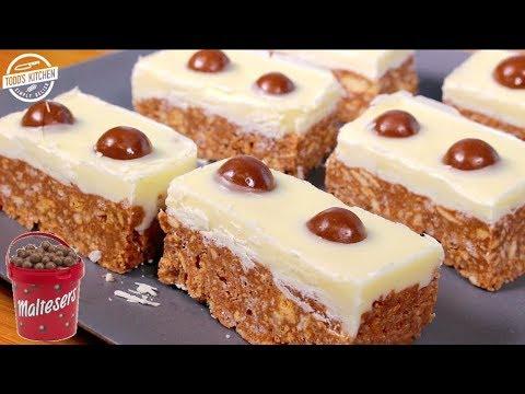 No bake Malteser Slices - How to make