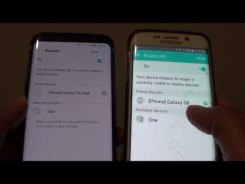 Samsung Galaxy S8: How to Pair Bluetooth With Another Device