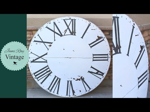 How To Make An Over Sized Clock From a Table Top | Fixer Upper Inspired