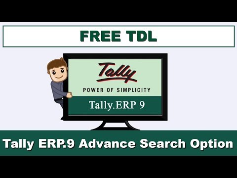 Tally ERP9 Search Option Through Customization