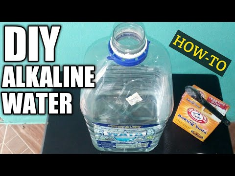 HOW TO MAKE ALKALINE WATER AT HOME | DIY ALKALINE WATER!