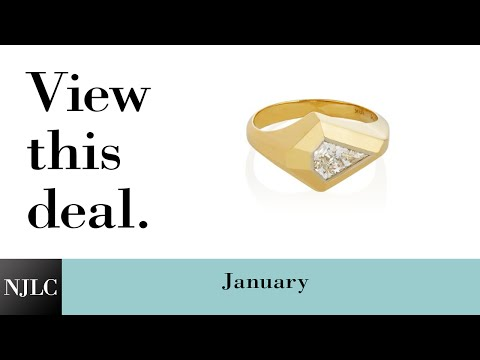 Deal of the Month: Men's Yellow Gold Kite Cut Diamond Ring