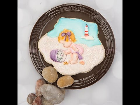 How to Create A Day at the Beach Cookie 👶🏖️🐚