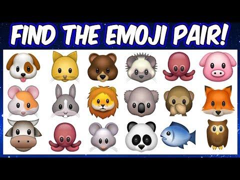 Find the emoji pair   Emoji Puzzles   Spot the odd emoji pair    Find the pair game emojis quiz