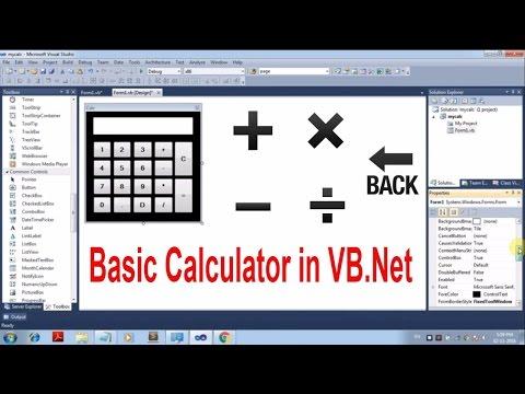 How to Create Calculator in Visual Basic.Net [Tutorial]