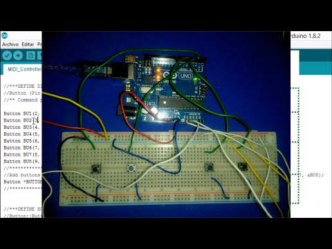 ARDUINO (UNO) controlador MIDI USB para VirtualDJ 7 & 8