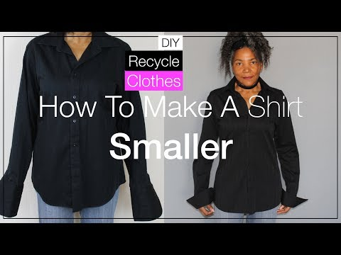 How To Make a Shirt Smaller | DIY Recycle Clothes
