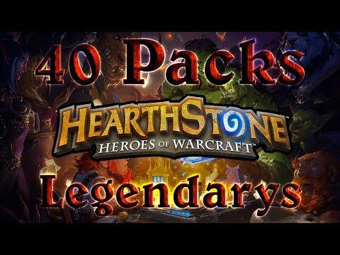 Hearthstone Pack Opening - 40 Packs - Legendary Packs!