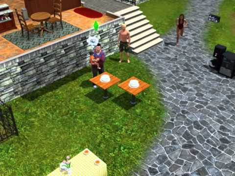 how to age up with a birthday cake on the sims 3!
