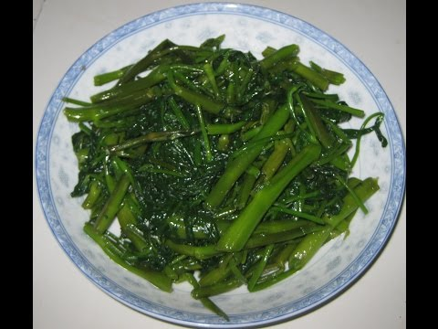 Water Spinach Stir Fry - CACH LAM RAU MUONG XAO - How to make stir-fried vegetable (water spinach)