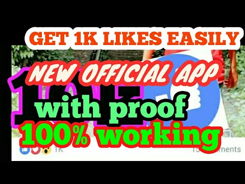 How to Get 1k likes in Facebook. 1000% working new app.in English. more than 10k likes