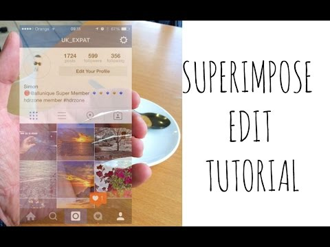 Transparent Instagram | Superimpose Edit Tutorial
