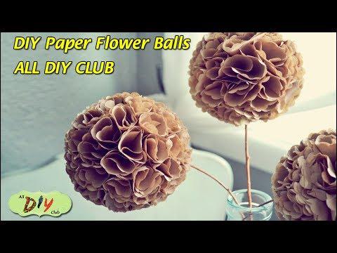 How to Make Pomander Balls Video Paper Flower Balls | Christmas Decoration Ideas | All DIY Club