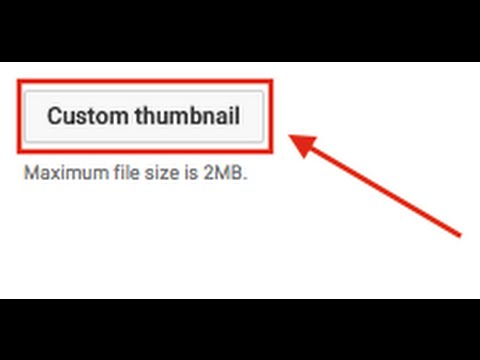 How to add a custom thumbnail on youtube:Mac