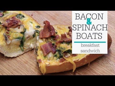 Egg Bacon Spinach Boat Recipe  | RadaCutlery.com