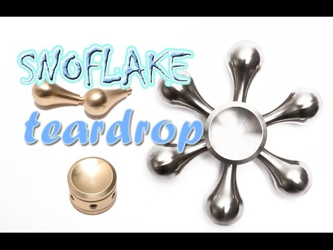 Metal Snowflake 6 Sided Tear Drop Fidget Spinner
