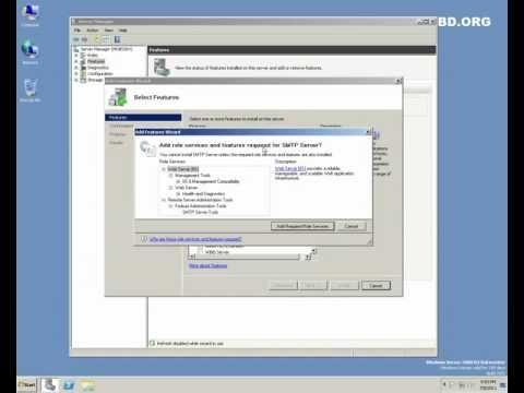 Microsoft Windows Server 2008 R2 SP1 - Simple Mail Transfer Protocol (SMTP) Server Configuration