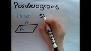 How To Find The Area Of Parallelograms Triangles And Trapezoids 6th G