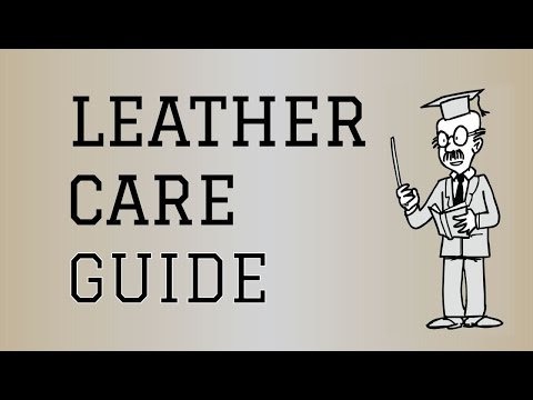 Fabric Care Guide : Leather | How to care for Leather Clothing