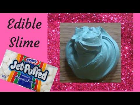 Edible Slime - Marshmallow Slime - DIY slime with No Glue, No Borax, No Contact Solution