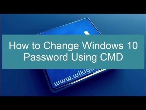 How To Change/Reset A Computer/Windows Password With CMD/Command Prompt