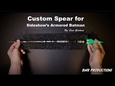Custom Kryptonite Spear for Sideshow Collectibles 1/4 Armored Batman