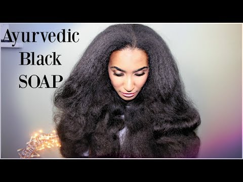 Ayurvedic Black Soap Shampoo for mad hair growth