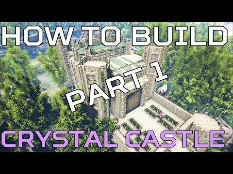 🦄 Hidden lake HOW TO BUILD Crystal Castle | Ark Survival [NO MODS] HD