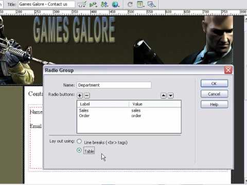 Learn How To Build A Contact Form Dreamweaver Tutorials Lesson 17