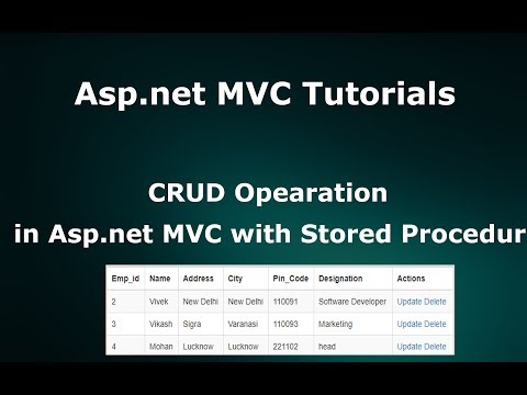 CRUD Operations In ASP.NET MVC  Using ADO.NET - Stored Procedure