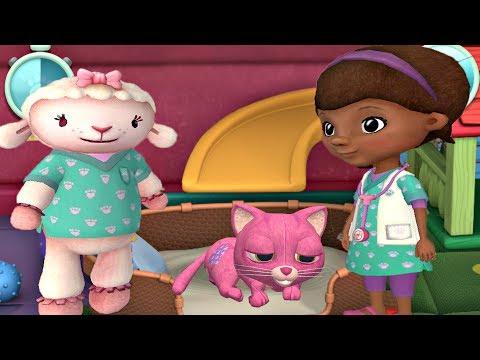 Doc McStuffins Pet Vet Clinic - Kitten Whispers Cat nap - Disney Junior App For Kids