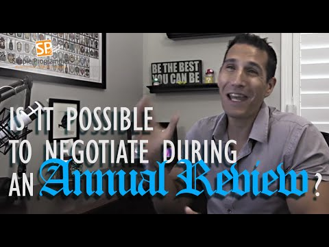 Is It Possible to Negotiate During an Annual Review?