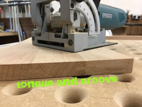 Loose tongue and groove joint with a biscuit jointer!