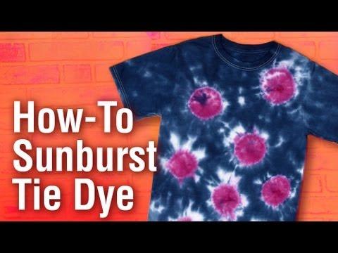 How-To create a Sunburst Design Tulip Tie Dye