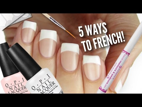 5 Ways To Get French Manicure Nails!