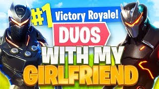Fortnite Duos w/ My Girlfriend!! *NEW* Submachine Gun Gameplay! (Fortnite Battle Royale)