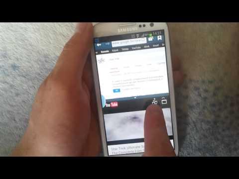 Galaxy S3 Több ablakos üzemmód/ Multi Window