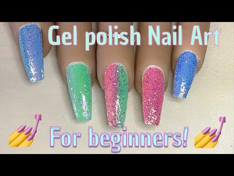 Easy Gel Polish Design | Burnished Glitter | Glitter Pixels | Nail Sugar