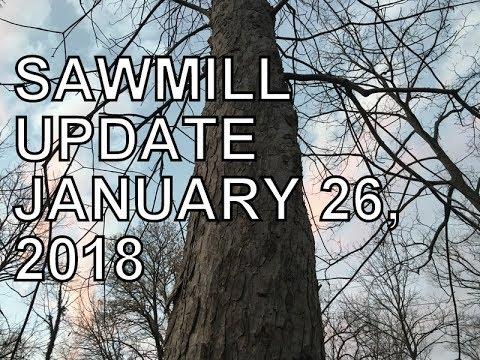 SAWMILL UPDATE, JANUARY 26, 2018, BOARD & BATTEN AND MYSTERY TREE