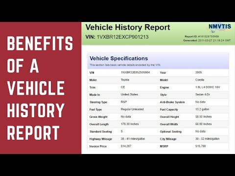 Benefits of a Vehicle History Report