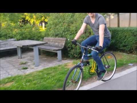 Homemade swing bike