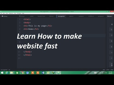 How to create website using Html-atom Part 1 For Beginners
